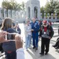 Astronaut Jack Fischer with Honor Flight Veterans