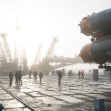 Expedition 55 Soyuz Rollout
