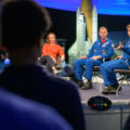 Astronauts McClain and Hague at NASM