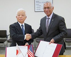 JAXA and NASA signed a Memorandum of Understanding  for cooperation on the Hayabusa2 mission and OSIRIS-REx mission -Strengthen Relationships in Asteroid Exploration-