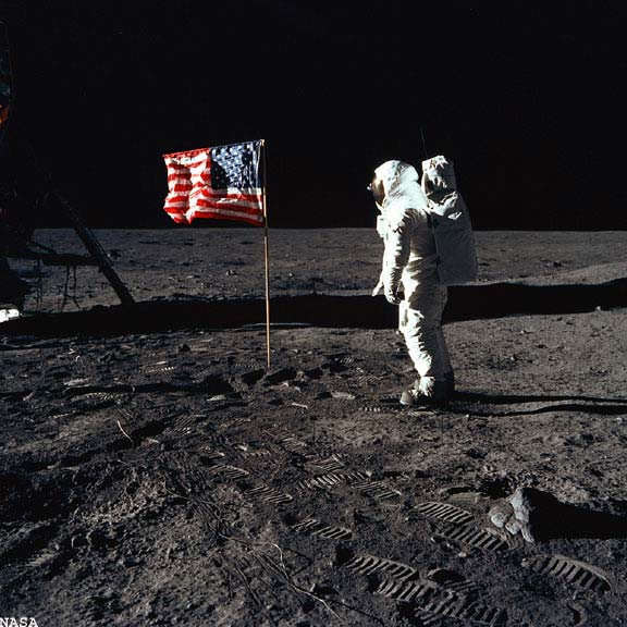 The Apollo moon landings were faked.