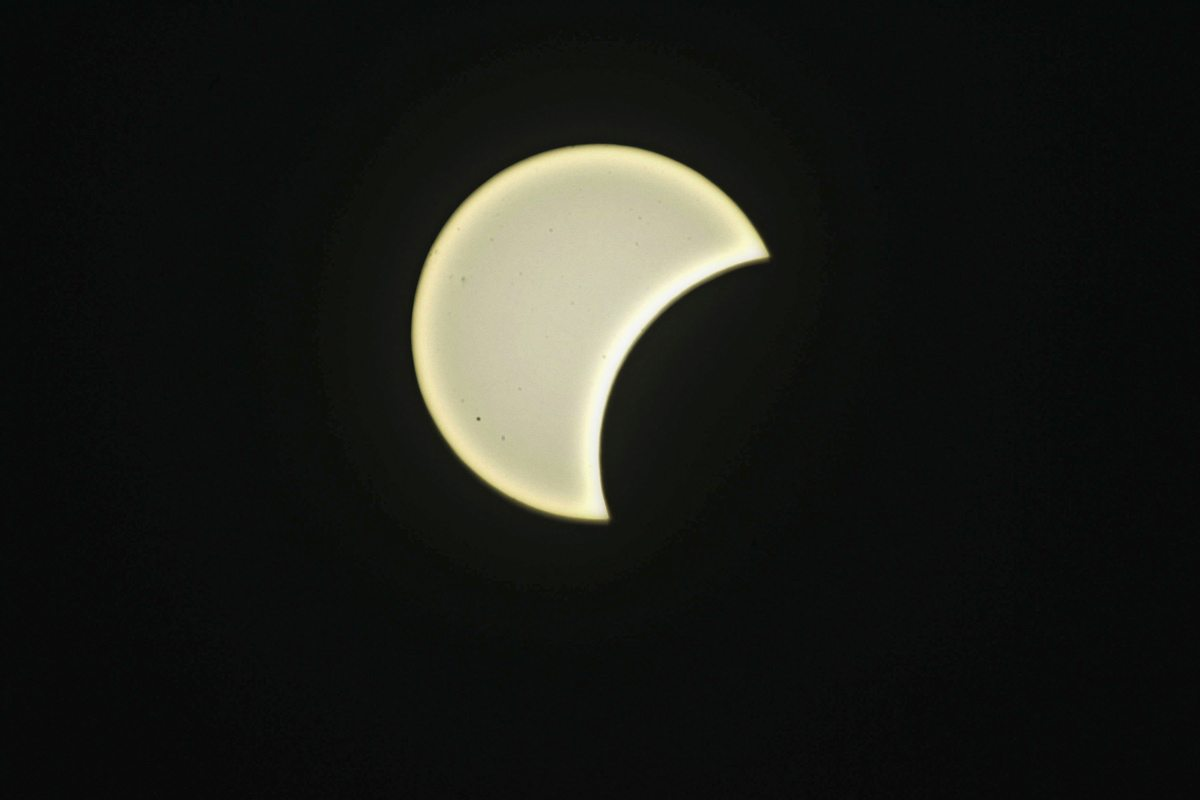 Partial Solar Eclipse in Gaza City, Gaza Strip