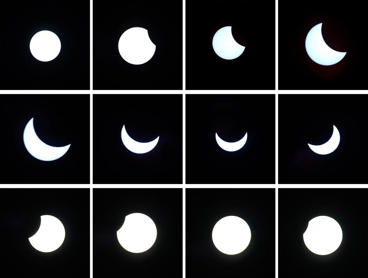 Partial Solar Eclipse from Garmisch-Partenkirchen, Germany