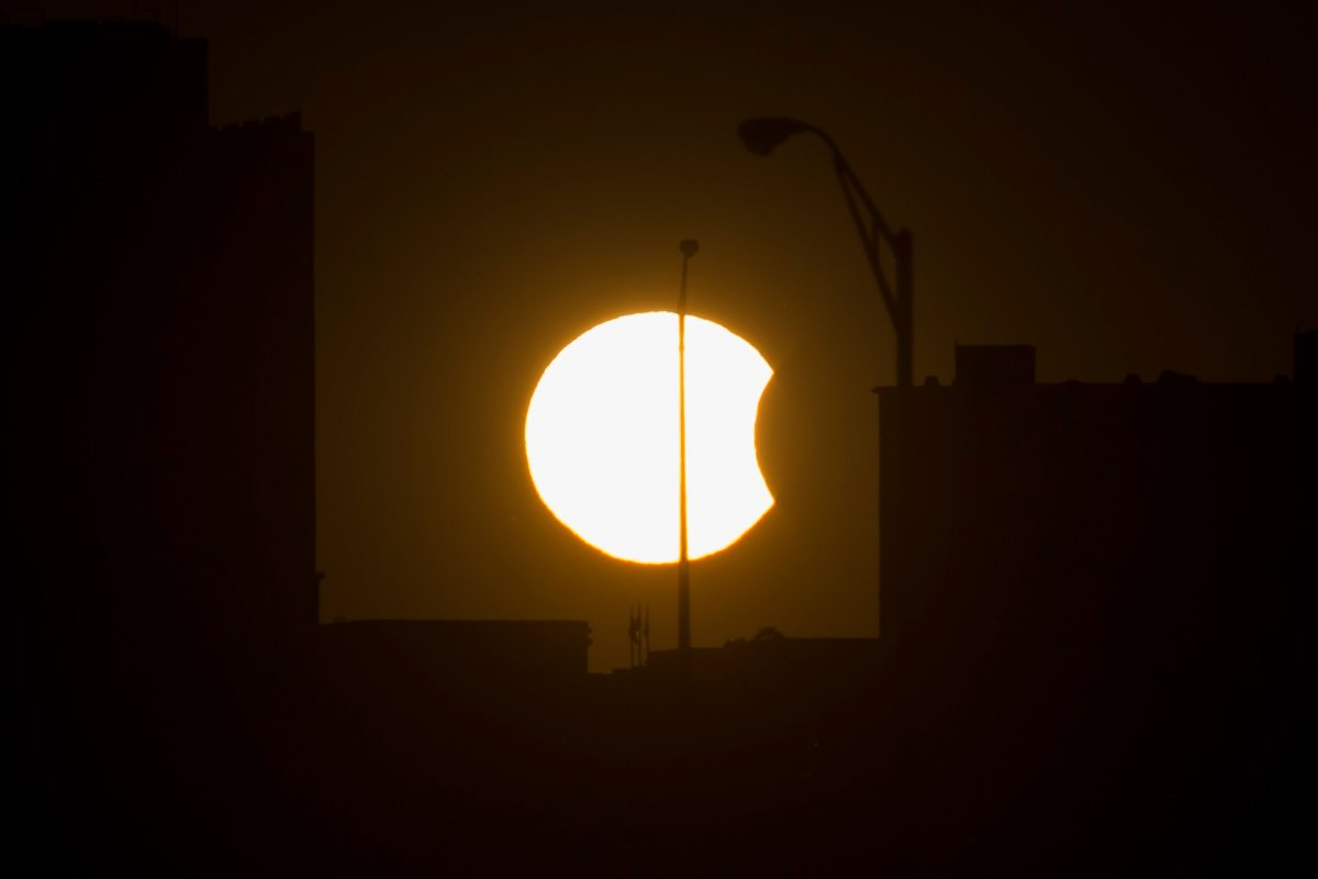 Partial Solar Eclipse in Arlington, Virgina