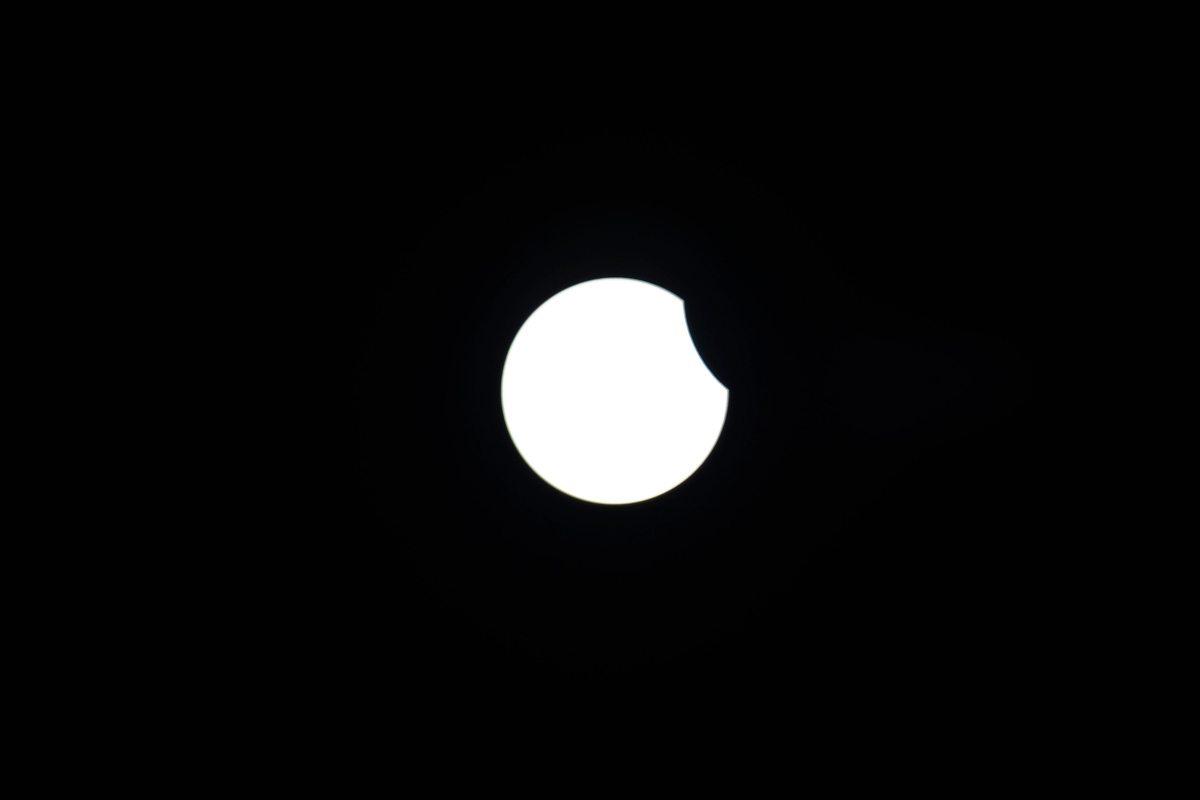 Partial Solar Eclipse at Garmisch-Partenkirchen, Germay