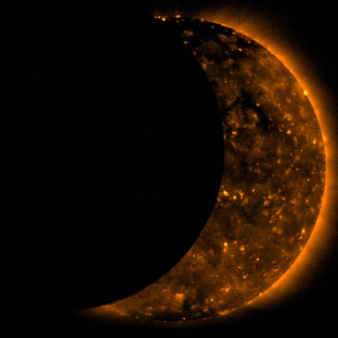 Moon Traversing the Sun