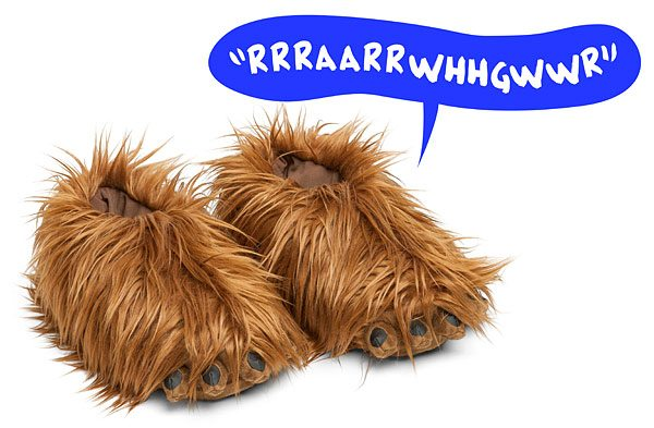 Chewbacca Slippers with Sound