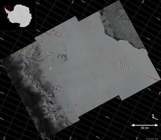 Larsen C Crack Interferogram