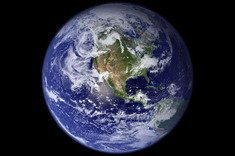 The image of Earth in space like a blue marble highlighted the planets fragility and the beauty of Earth.