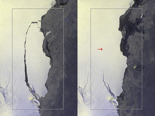 ALOS-2 Captures Massive Iceberg's Breakoff from Antarctica