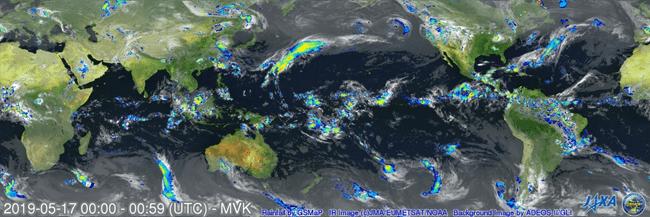 Image of GSMaP at 00UTC, May 17th, 2019.