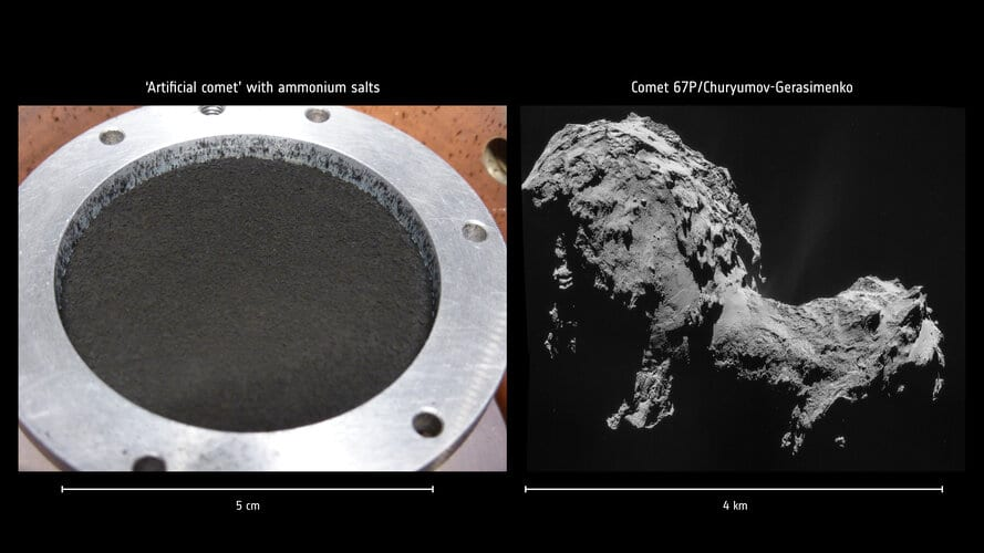 Ammonium salts found on Rosetta's comet