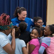 Astronaut Serena Auñón-Chancellor at Excel Academy