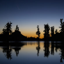 Comet NEOWISE Captured Above Lone Pine Lake at Dawn