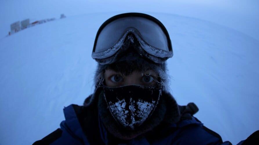 Nadja Albertsen in Antarctica