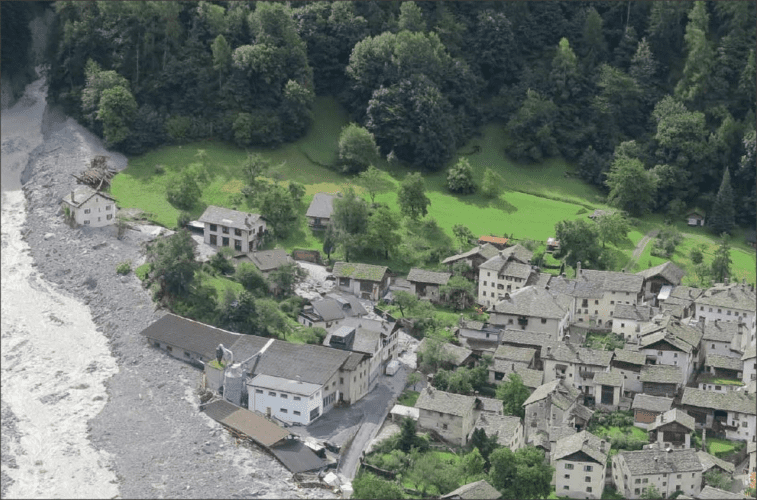 Bondo landslides, Switzerland