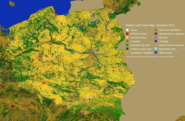 Poland land-cover