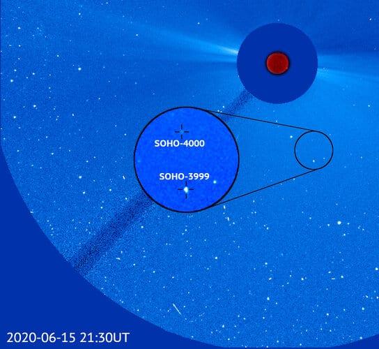 Citizen scientist discovers Sun-watcher SOHO's 4000th comet